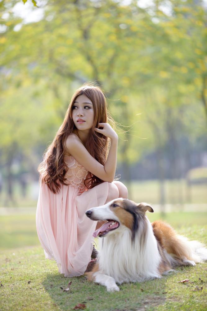 少女与狗-宠物摄影集欣赏(2)
