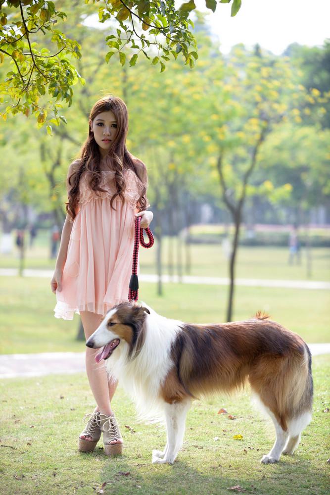 少女与狗-宠物摄影集欣赏(3)