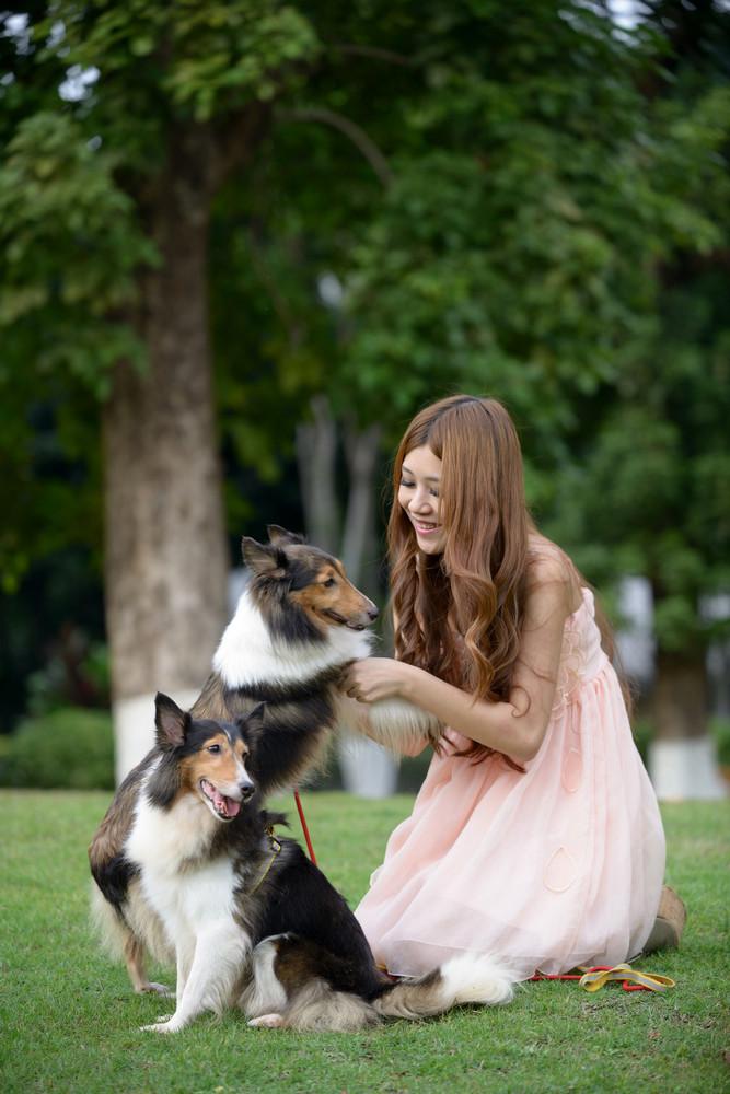 少女与狗-宠物摄影集欣赏(4)