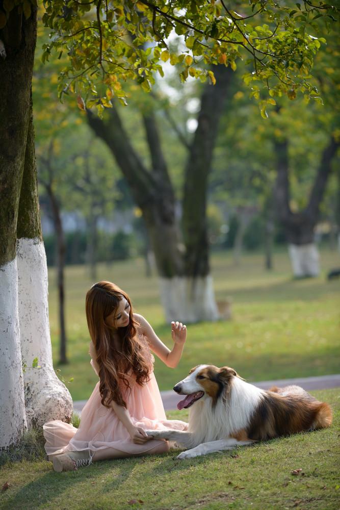 少女与狗-宠物摄影集欣赏(5)
