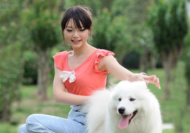 少女与狗-宠物摄影集欣赏(6)